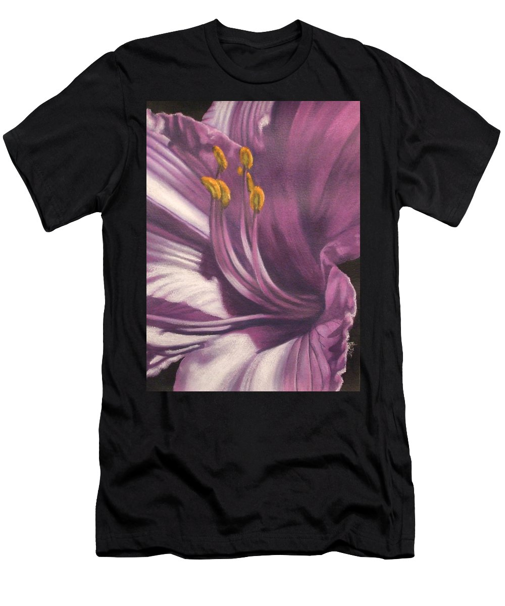 Floral Men's T-Shirt (Athletic Fit) featuring the mixed media Amethyst by Barbara Keith