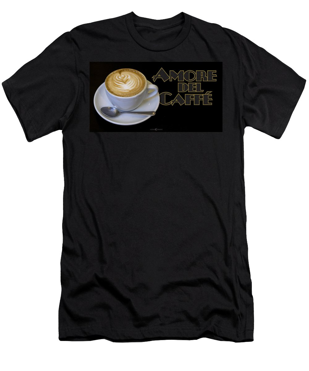 Coffee Men's T-Shirt (Athletic Fit) featuring the photograph Amore Del Caffe Poster by Tim Nyberg