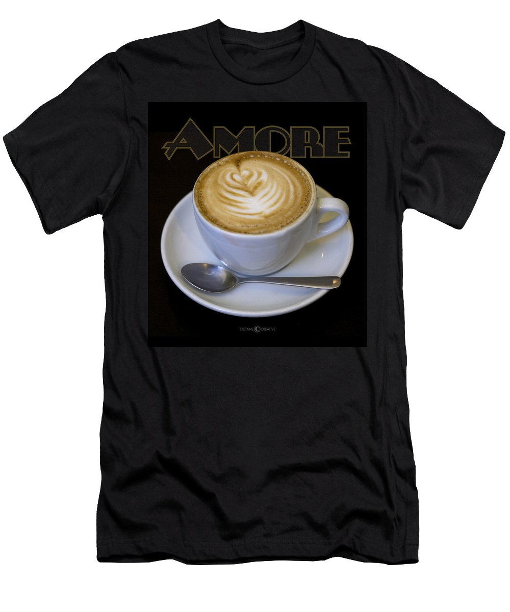 Coffee Men's T-Shirt (Athletic Fit) featuring the photograph Amore Poster by Tim Nyberg
