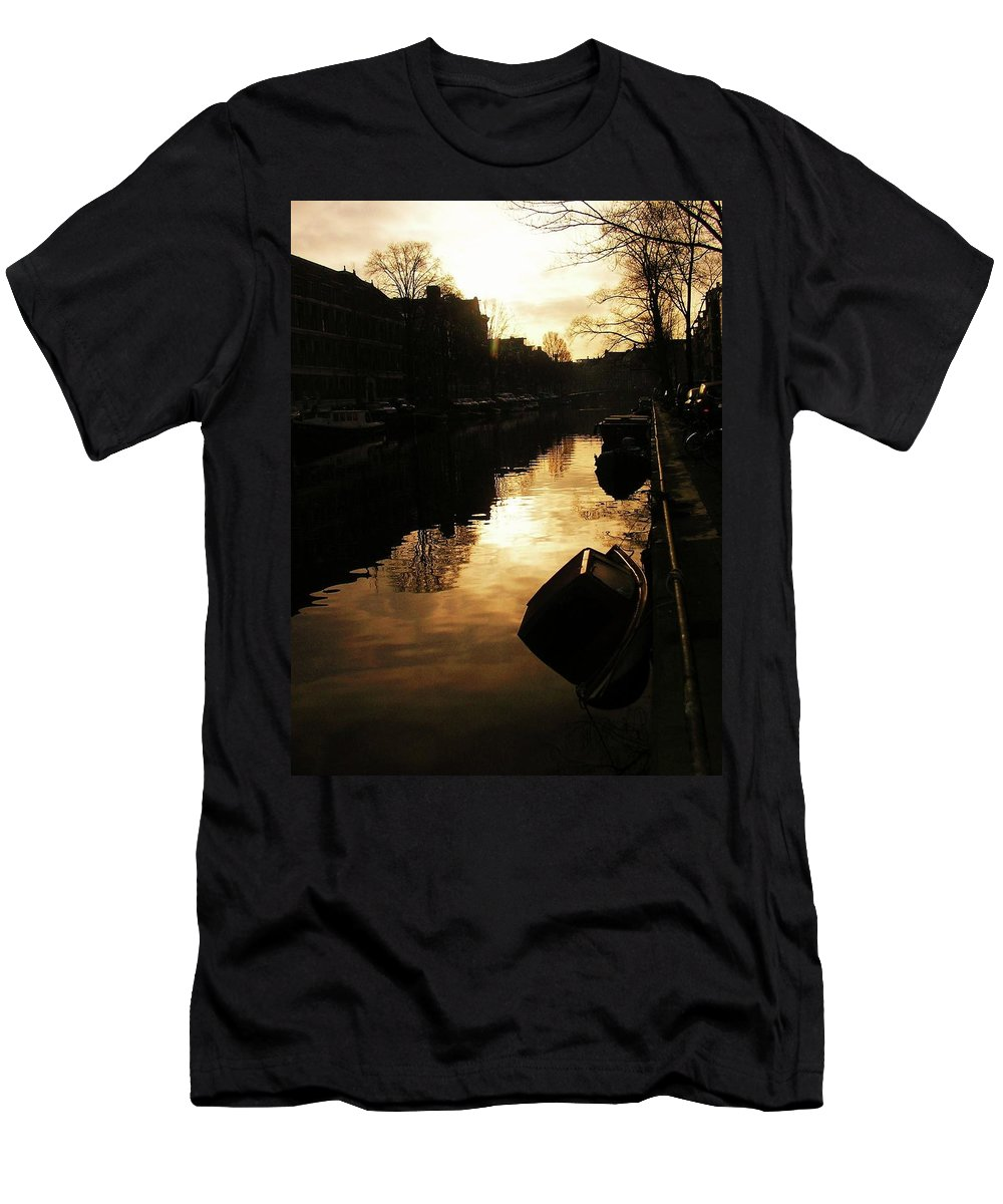Landscape Men's T-Shirt (Athletic Fit) featuring the photograph Amsterdam Netherlands by Louise Macarthur Art and Photography