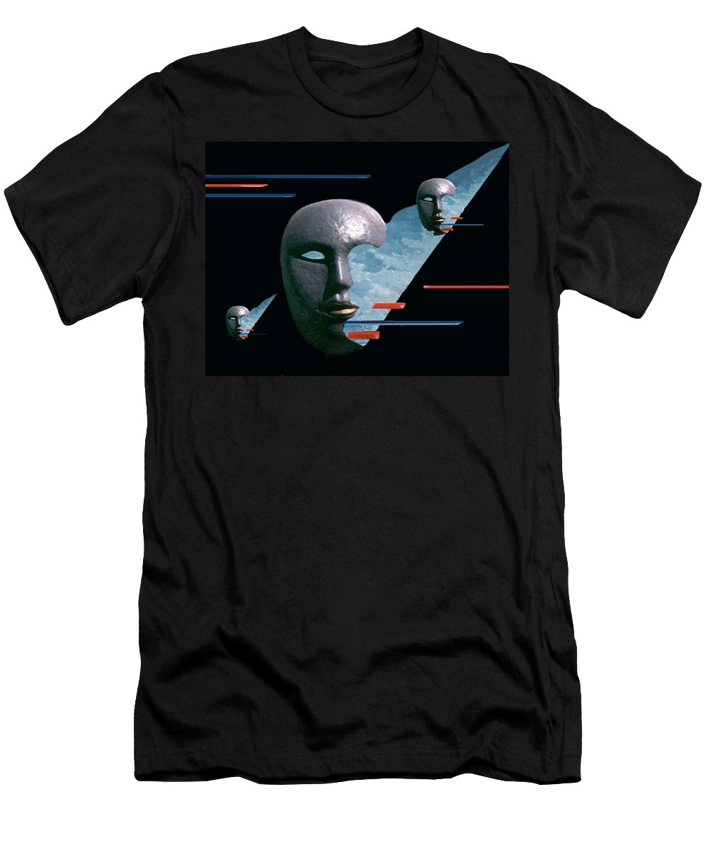 Surreal Men's T-Shirt (Athletic Fit) featuring the digital art An Androids Dream by Steve Karol
