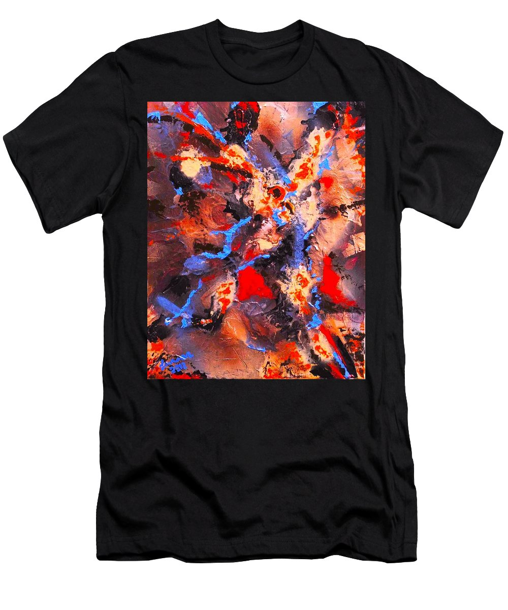 Abstract Men's T-Shirt (Athletic Fit) featuring the painting An Impulse by Paul Larson