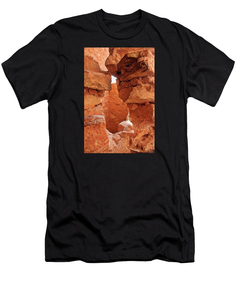 Cliff Dwellings Men's T-Shirt (Athletic Fit) featuring the photograph Anasazi Cliff Dwellings #8 by Lorraine Baum