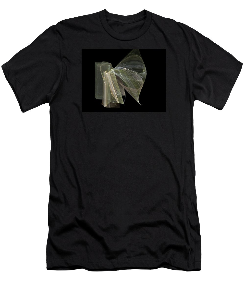 Experimental Men's T-Shirt (Athletic Fit) featuring the digital art And The Angel Spoke..... by Jackie Mueller-Jones