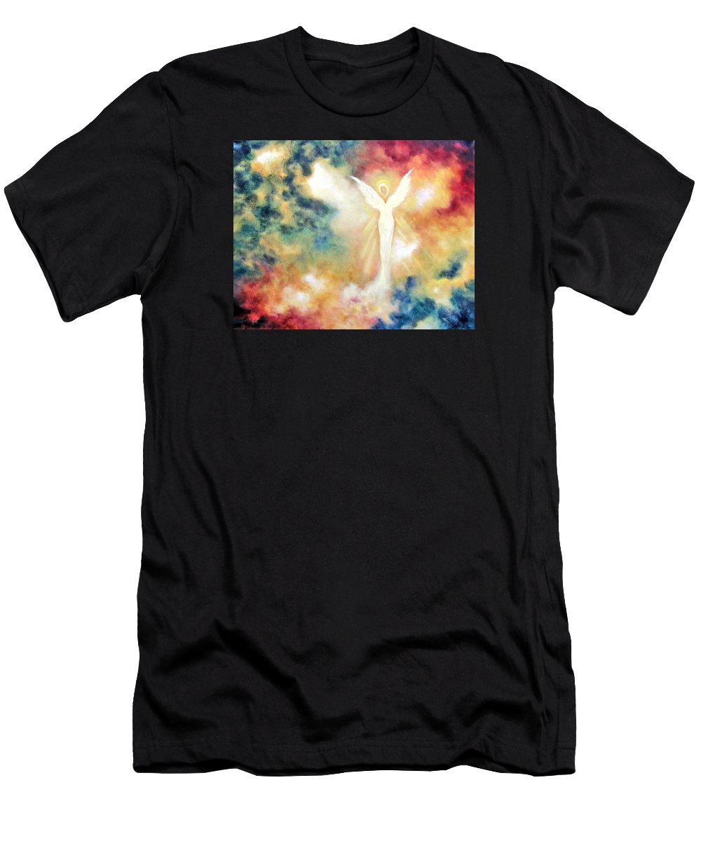 Angel Men's T-Shirt (Athletic Fit) featuring the painting Angel Light by Marina Petro