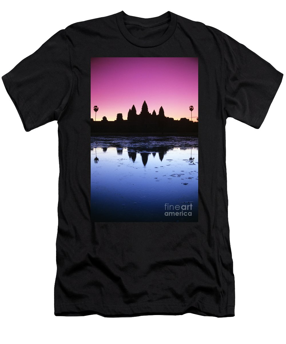 Ancient Men's T-Shirt (Athletic Fit) featuring the photograph Angkor Wat by Gloria & Richard Maschmeyer - Printscapes
