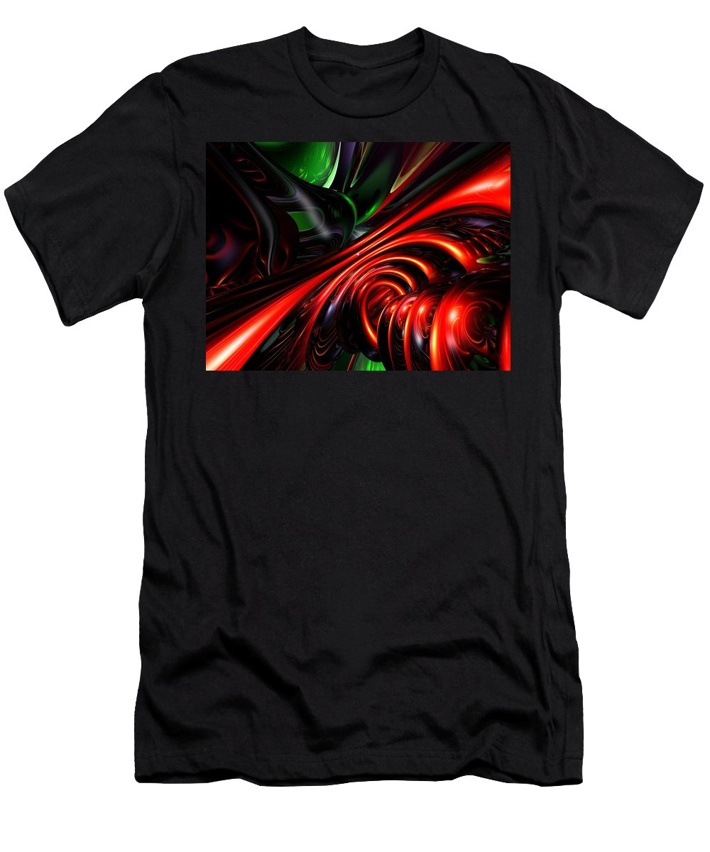 3d Men's T-Shirt (Athletic Fit) featuring the digital art Angry Clown Abstract by Alexander Butler