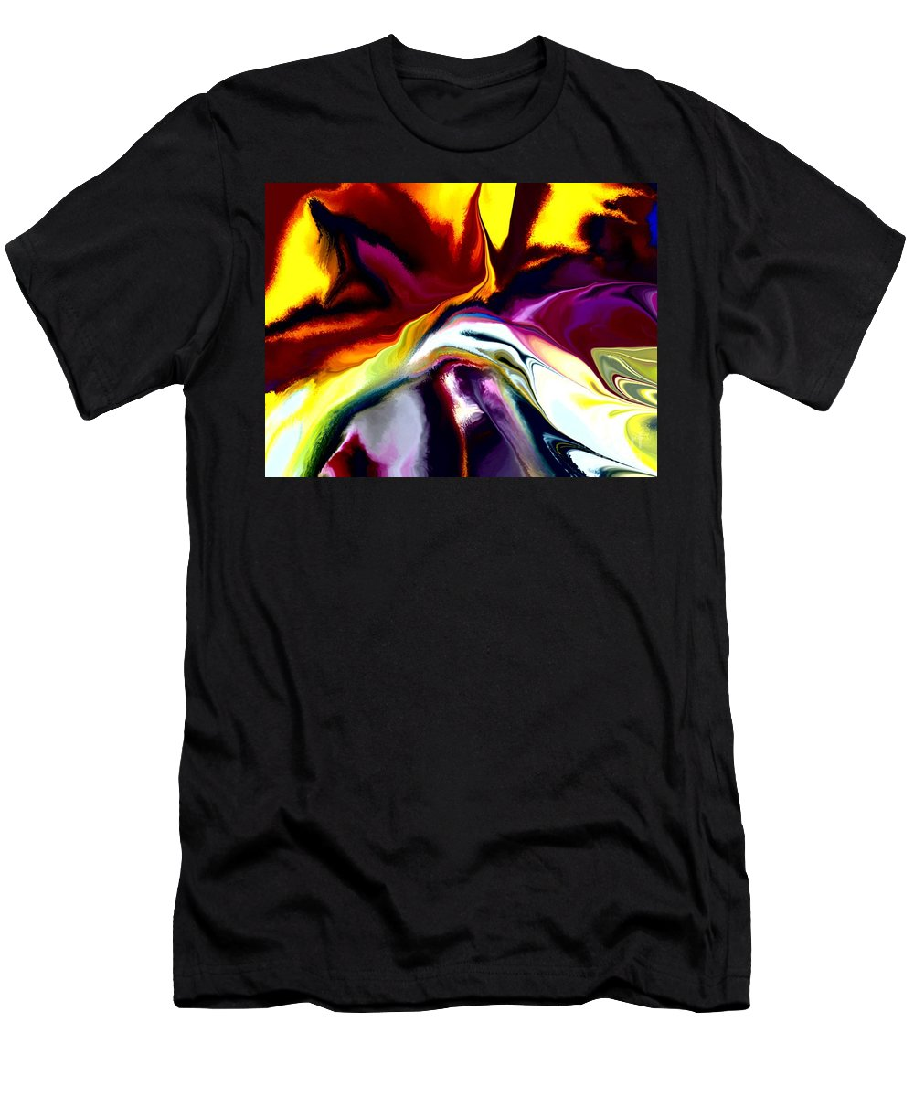 Abstract Men's T-Shirt (Athletic Fit) featuring the digital art Angst by David Lane
