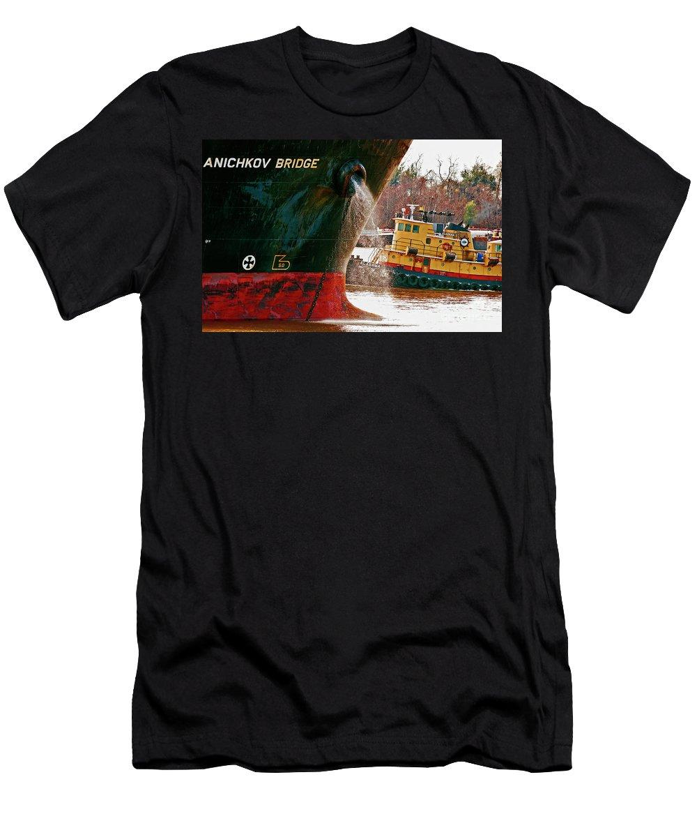 Ship Men's T-Shirt (Athletic Fit) featuring the photograph Anichkov Bridge by Kathleen K Parker