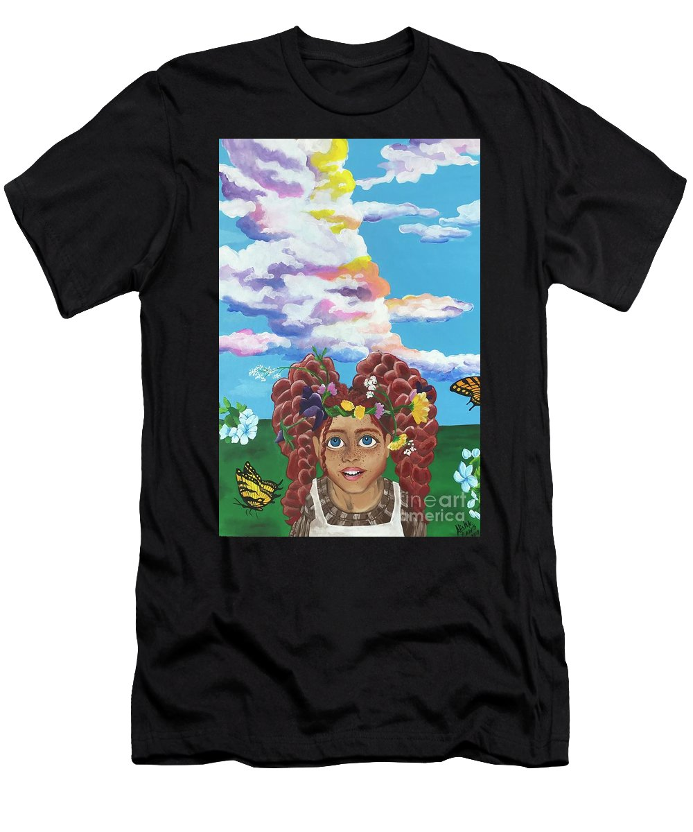 Anne Men's T-Shirt (Athletic Fit) featuring the painting Anne Shirley by Alisha Lewis