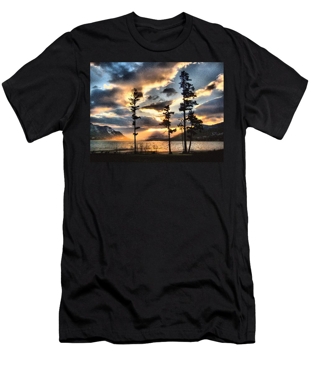 Sunset Men's T-Shirt (Athletic Fit) featuring the photograph Anniversary by Kathy Bassett