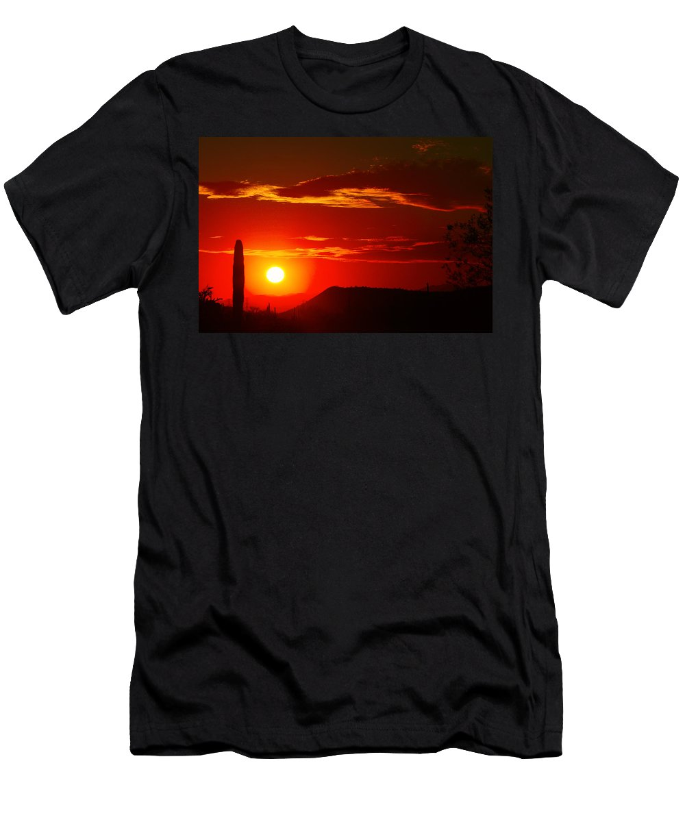 Sunset Men's T-Shirt (Athletic Fit) featuring the photograph Another Beautiful Arizona Sunset by James BO Insogna