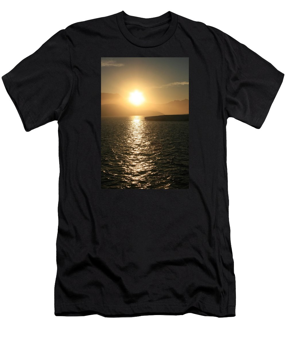 Antarctica Men's T-Shirt (Athletic Fit) featuring the photograph Antarctic Sunset by Andrew Parker