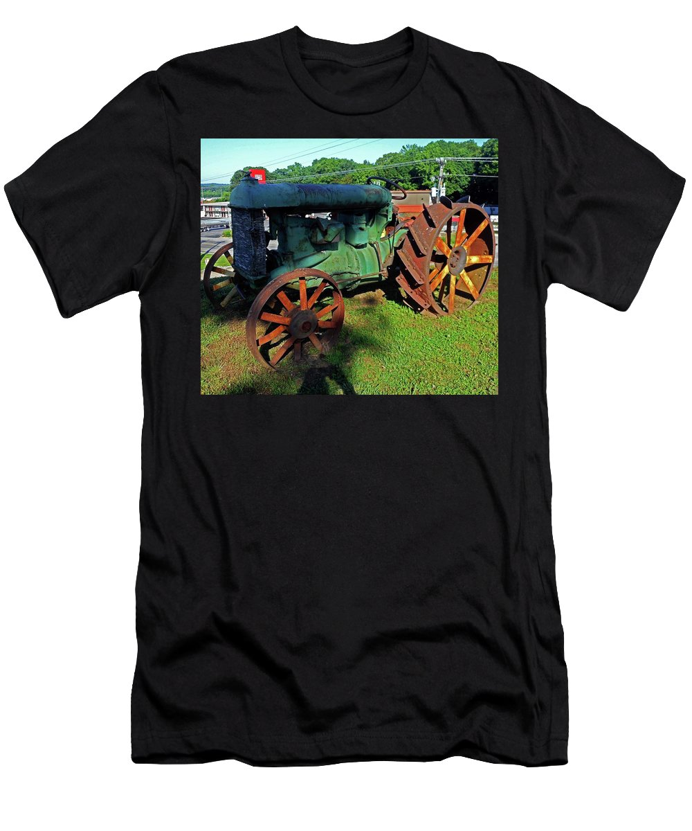Hurricane Mills Men's T-Shirt (Athletic Fit) featuring the photograph Antique Tractor 3 by Ron Kandt