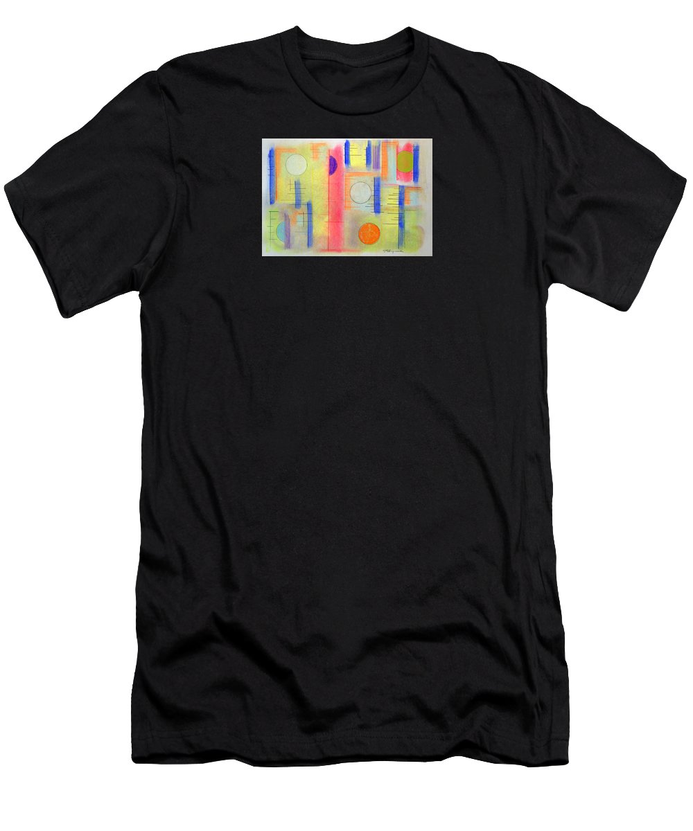 Abstract T-Shirt featuring the drawing Anytime Of The Day by J R Seymour
