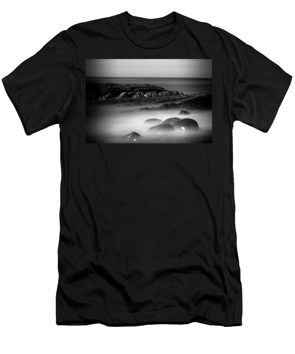 Bowling Ball Beach Men's T-Shirt (Athletic Fit) featuring the photograph Another Dimension by Marnie Patchett