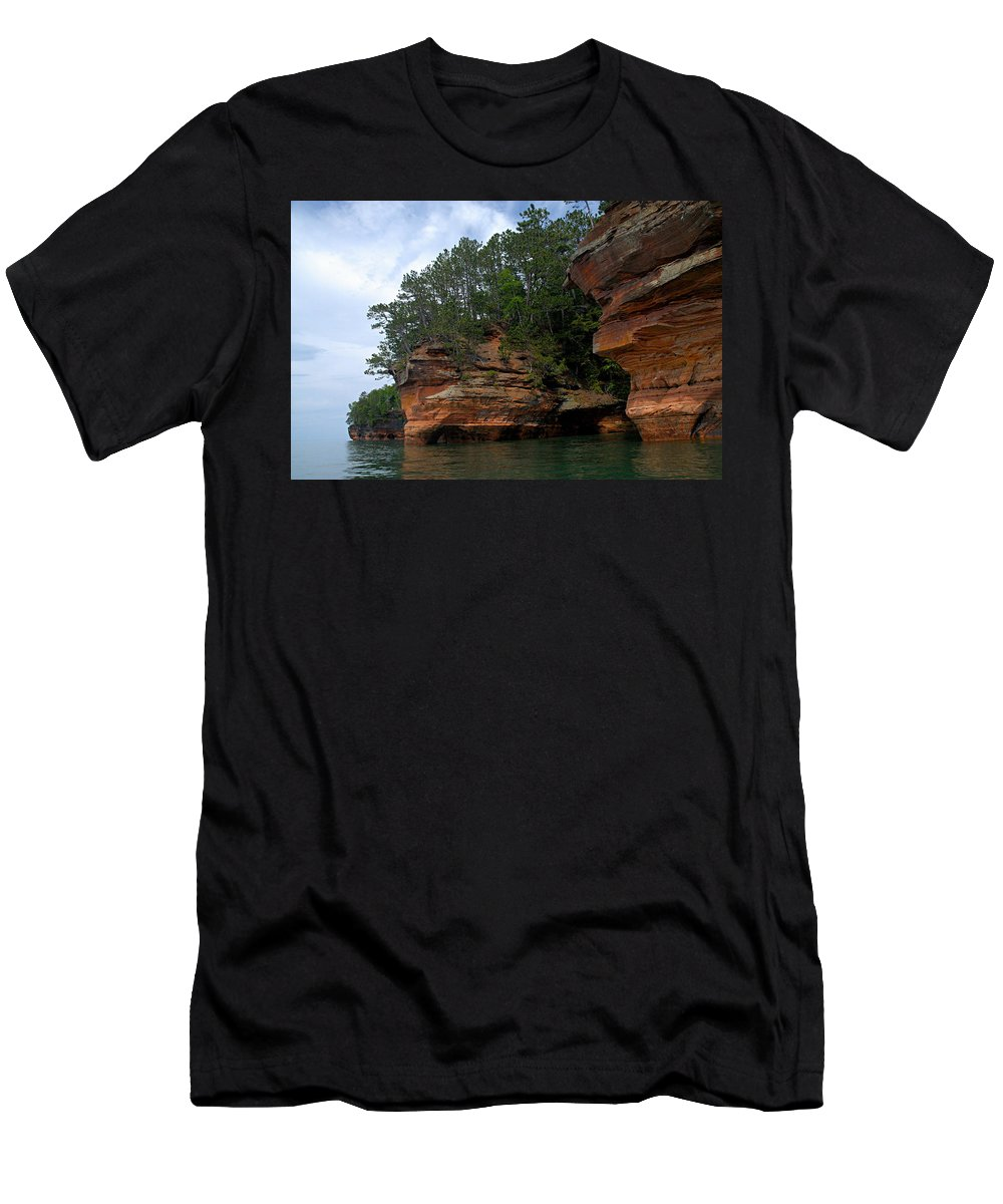 Apostle Islands National Lakeshore Men's T-Shirt (Athletic Fit) featuring the photograph Apostle Islands National Lakeshore by Larry Ricker