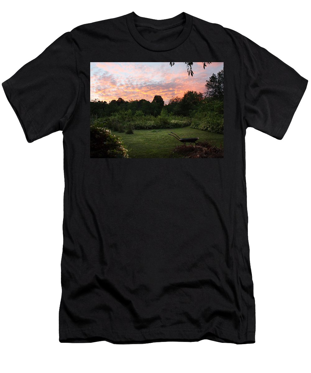 Landscape Men's T-Shirt (Athletic Fit) featuring the photograph Appalachian Lush by Ted M Tubbs