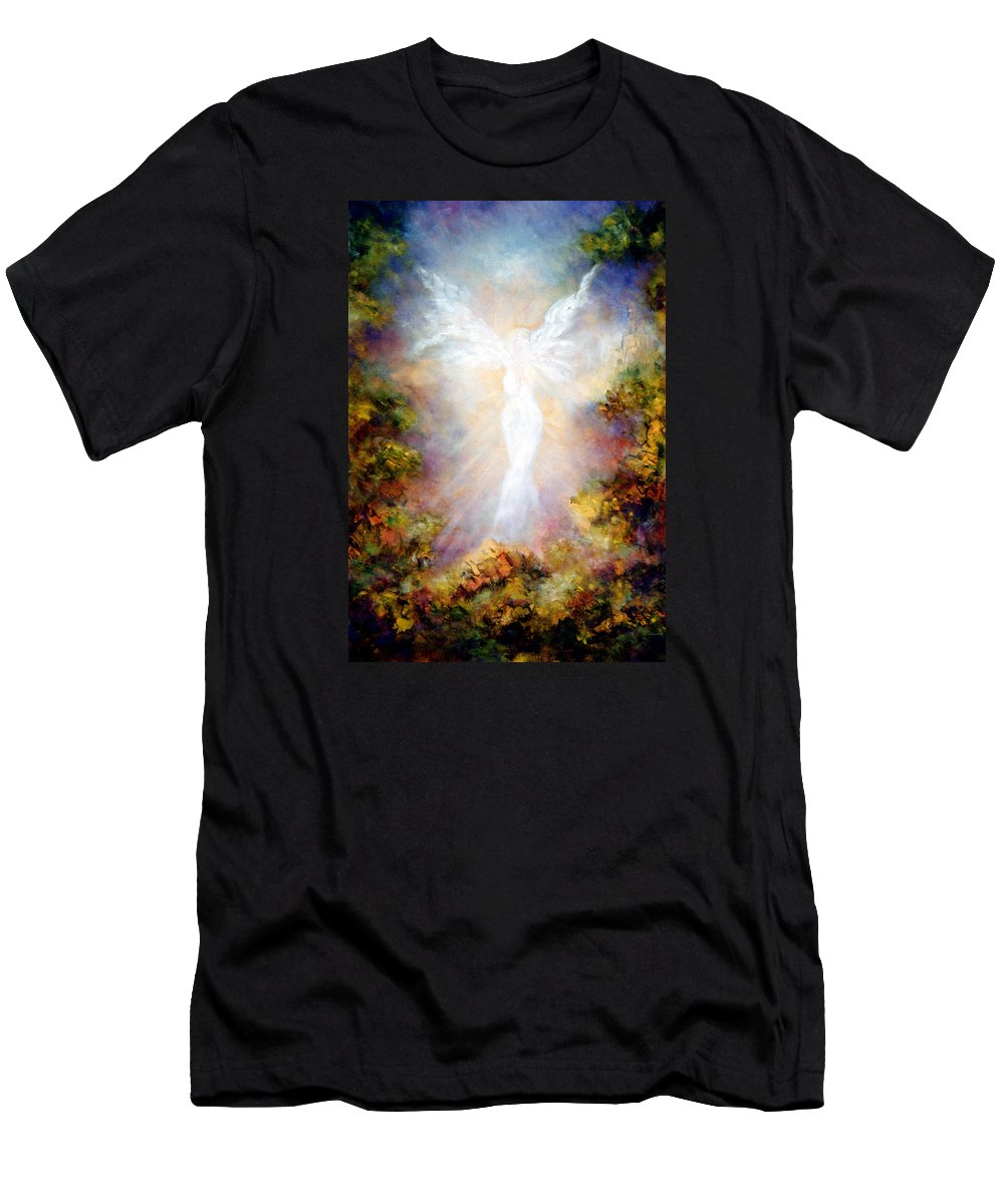 Angel Men's T-Shirt (Athletic Fit) featuring the painting Apparition II by Marina Petro