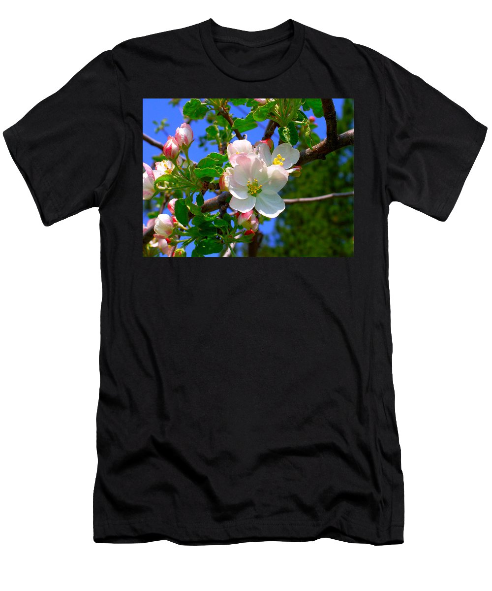 Apple Men's T-Shirt (Athletic Fit) featuring the photograph Apple Blossoms by Karon Melillo DeVega
