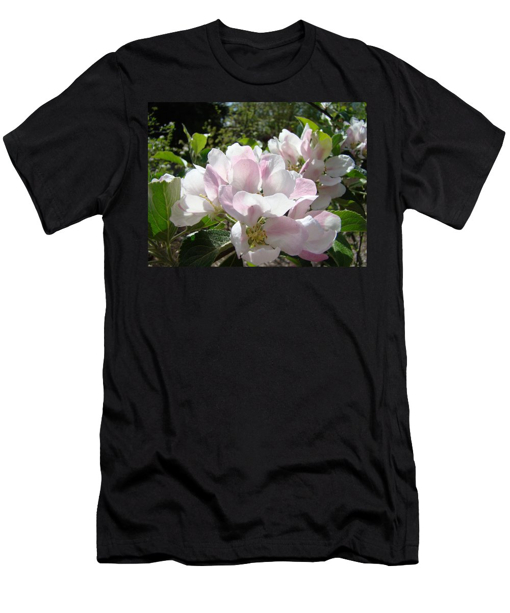 Apple Men's T-Shirt (Athletic Fit) featuring the photograph Apple Tree Blossoms Art Prints Baslee Troutman by Baslee Troutman