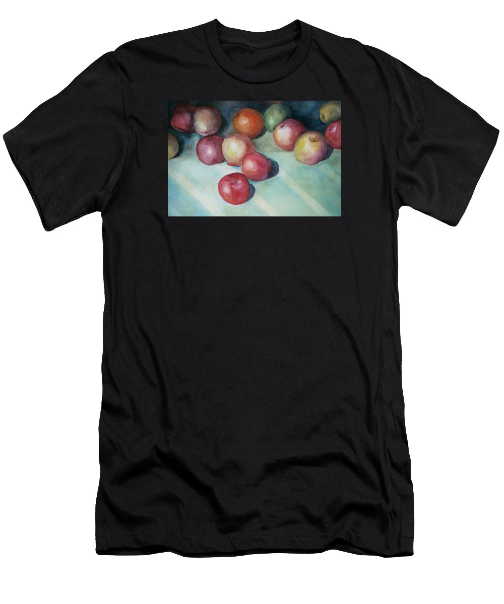 Orange Men's T-Shirt (Athletic Fit) featuring the painting Apples And Orange by Jun Jamosmos
