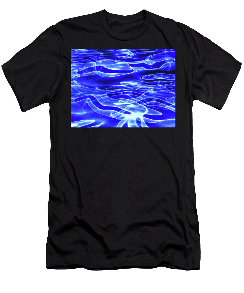 Water Men's T-Shirt (Athletic Fit) featuring the photograph Aquacade by Aliaksandr Alin