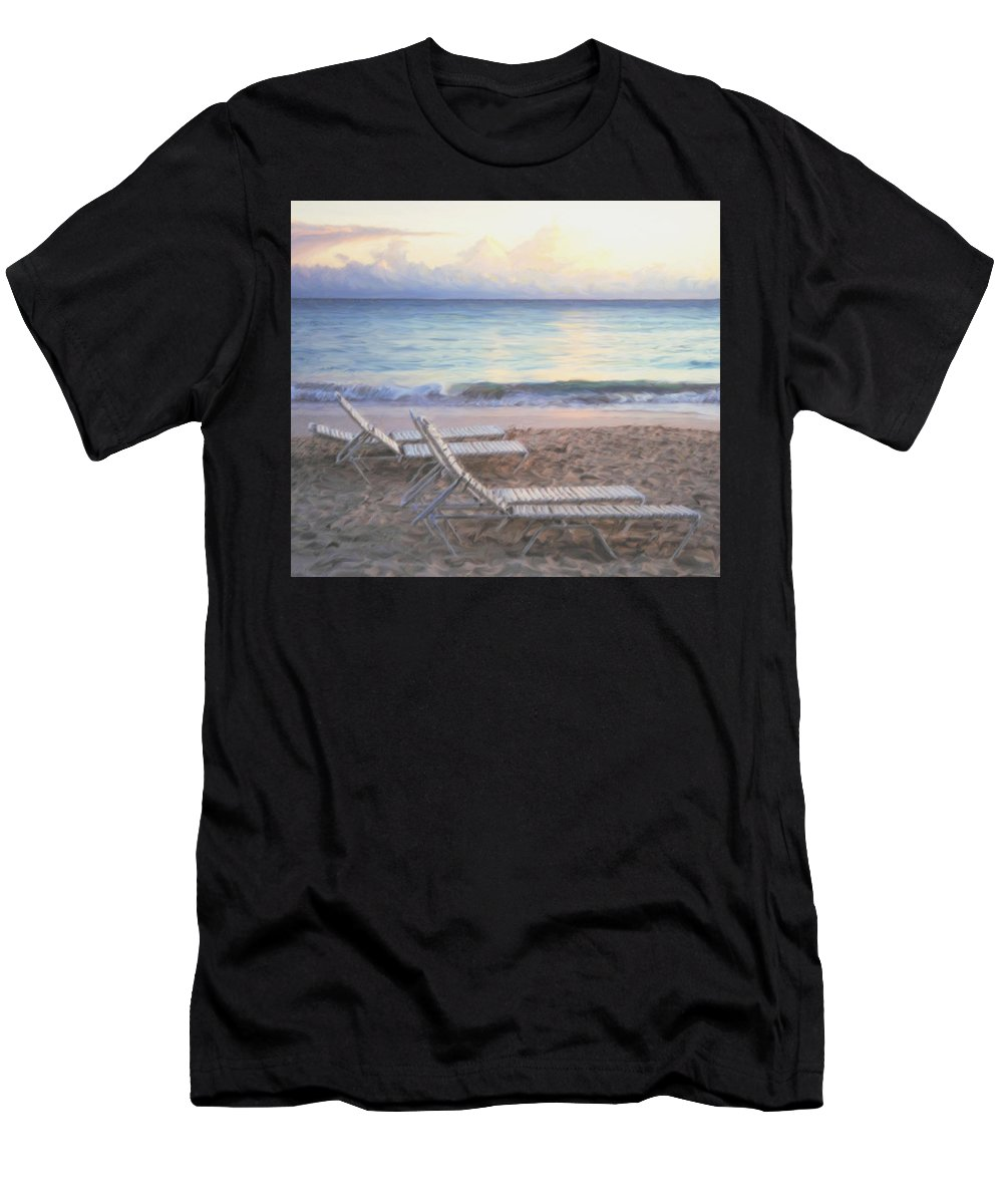 Aruba Men's T-Shirt (Athletic Fit) featuring the photograph Aruba Beach Sunset by Ian MacDonald
