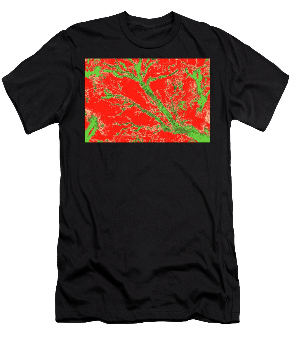 Trees Men's T-Shirt (Athletic Fit) featuring the photograph Arboreal Plateau 37 by Gary Bartoloni