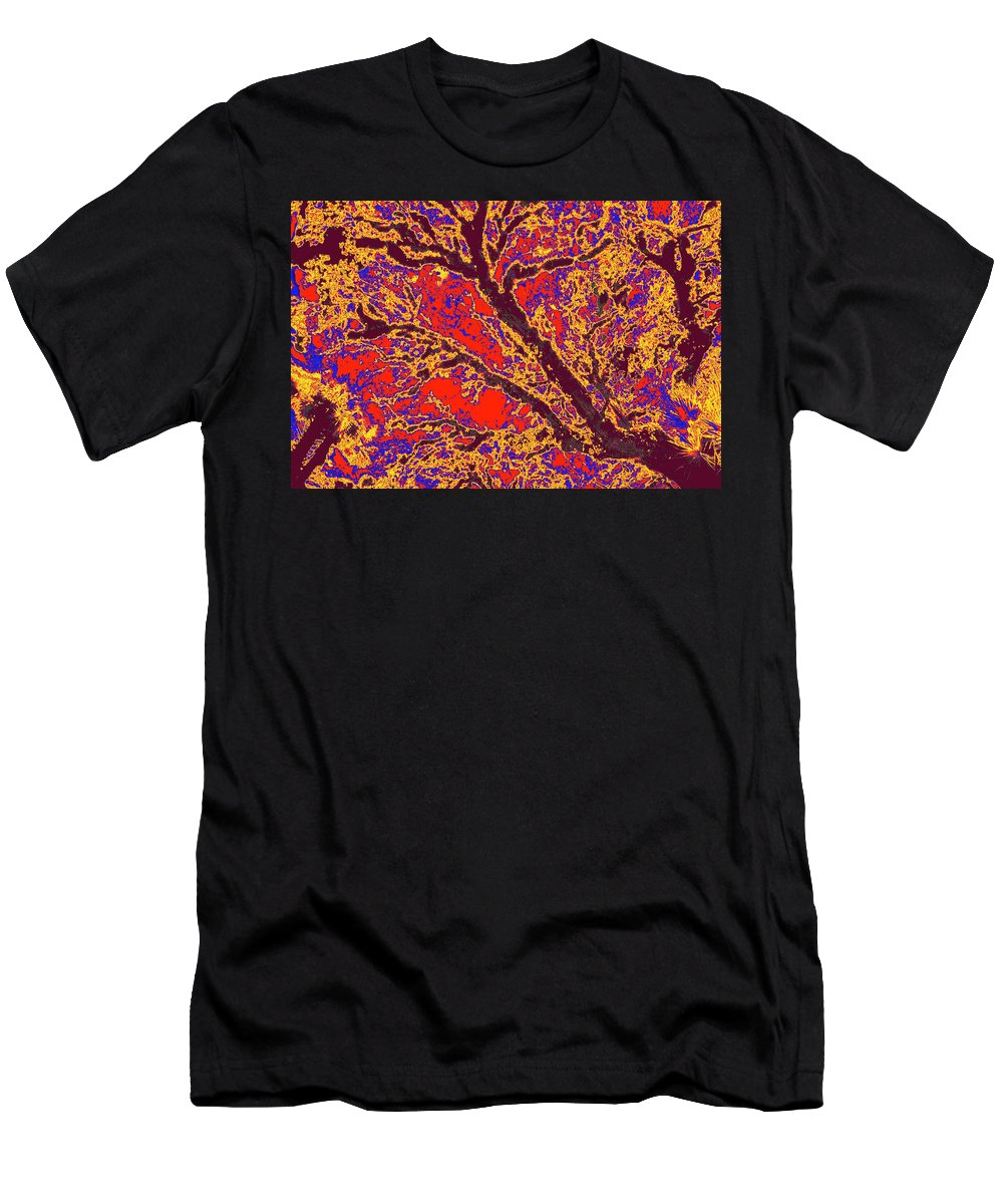 Trees Men's T-Shirt (Athletic Fit) featuring the photograph Arboreal Plateau 40 by Gary Bartoloni