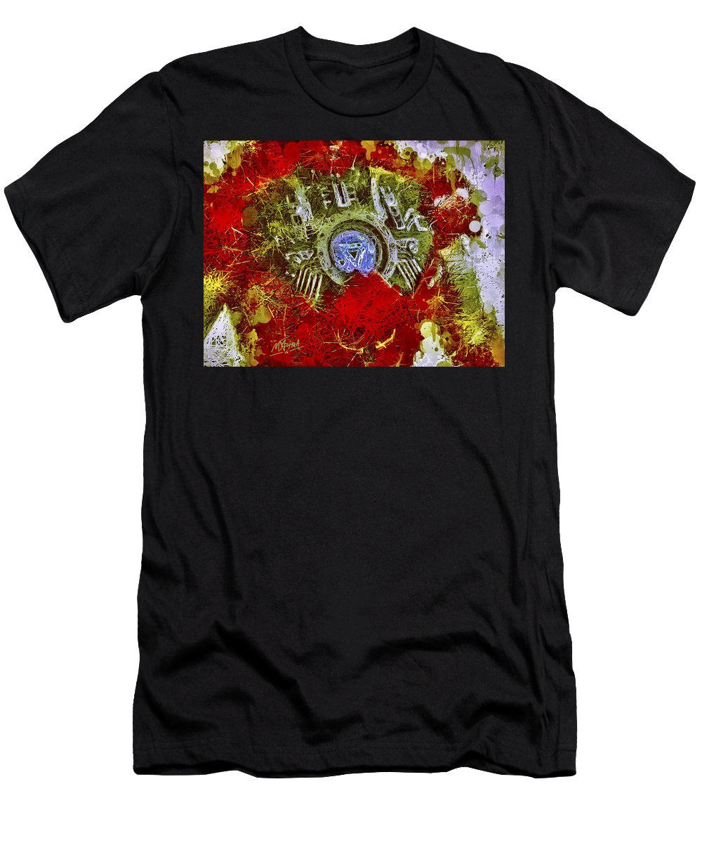 Ironman Men's T-Shirt (Athletic Fit) featuring the mixed media Iron Man 2 by Al Matra