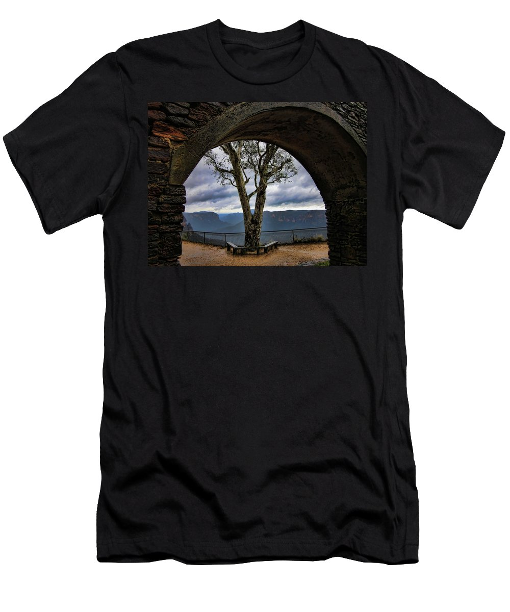 Tree Men's T-Shirt (Athletic Fit) featuring the photograph Arch Tree by Douglas Barnard