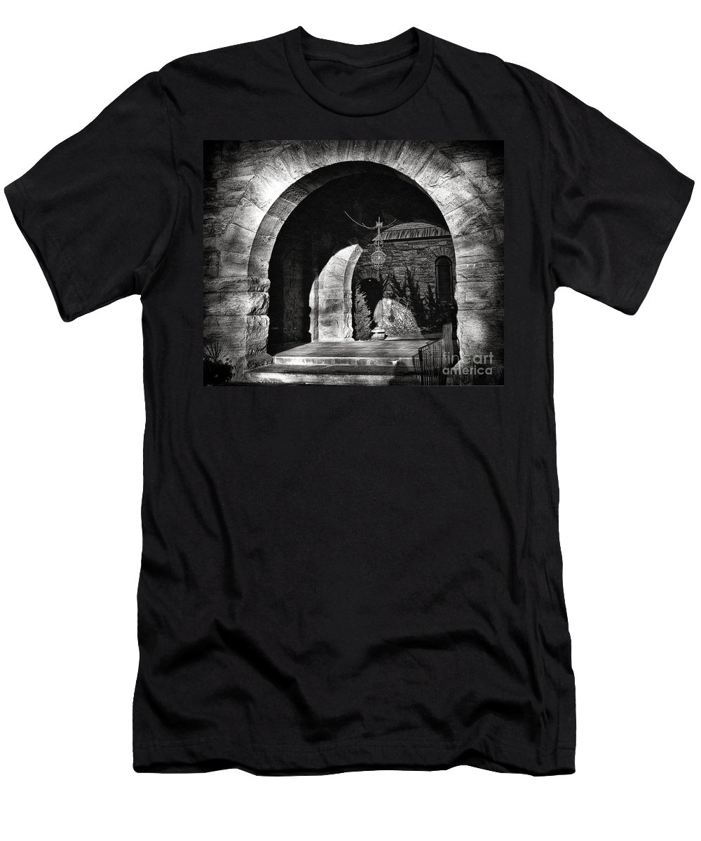 Arches Men's T-Shirt (Athletic Fit) featuring the photograph Arches by Madeline Ellis