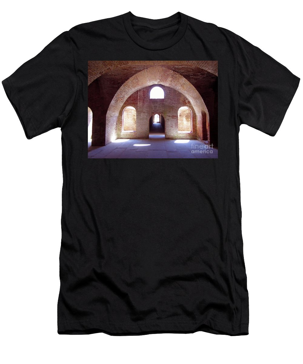 Fort Men's T-Shirt (Athletic Fit) featuring the photograph Arches Of Sunshine by D Hackett