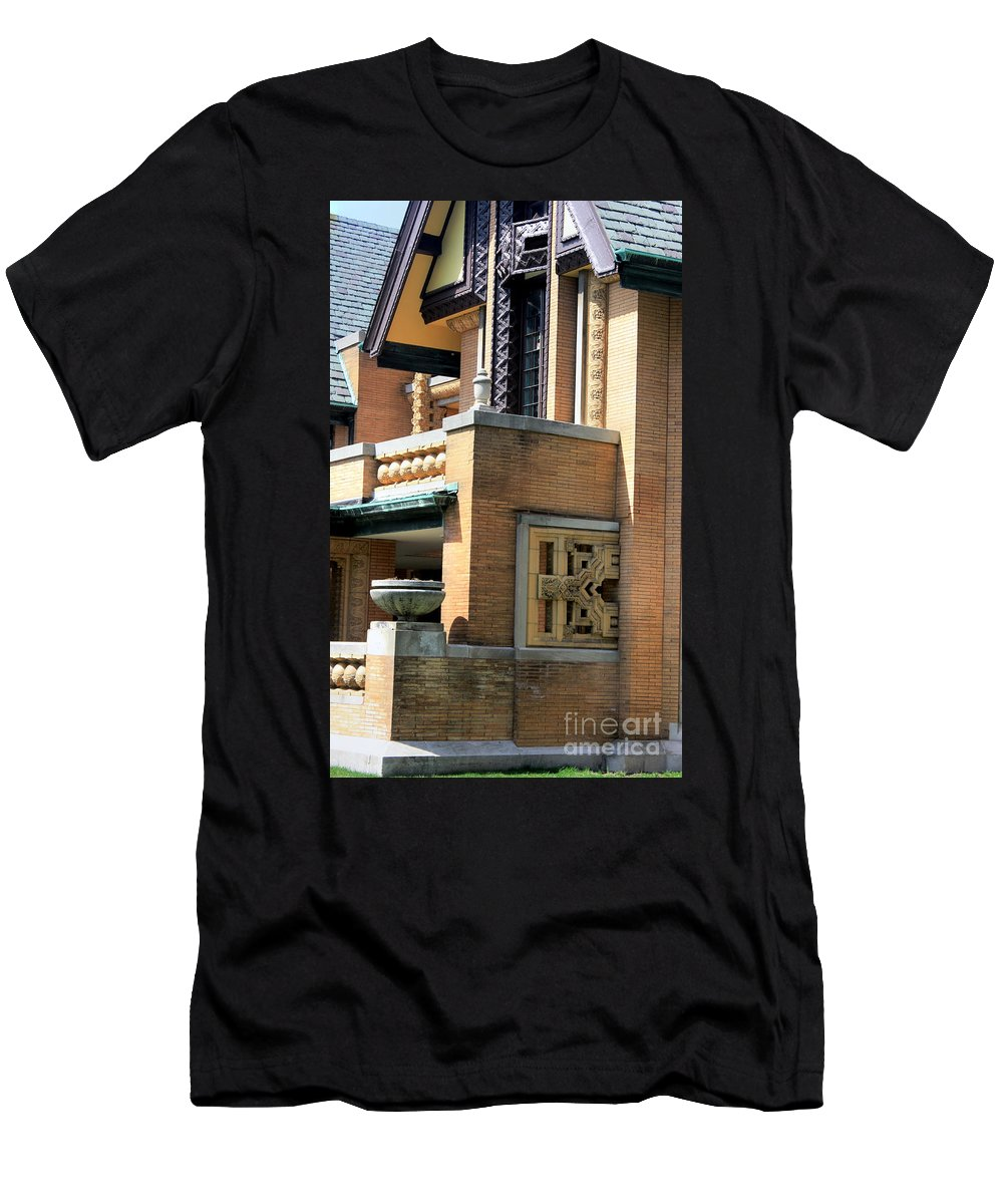 Moore-dugal House Men's T-Shirt (Athletic Fit) featuring the photograph Architectural Detail - 5 by David Bearden
