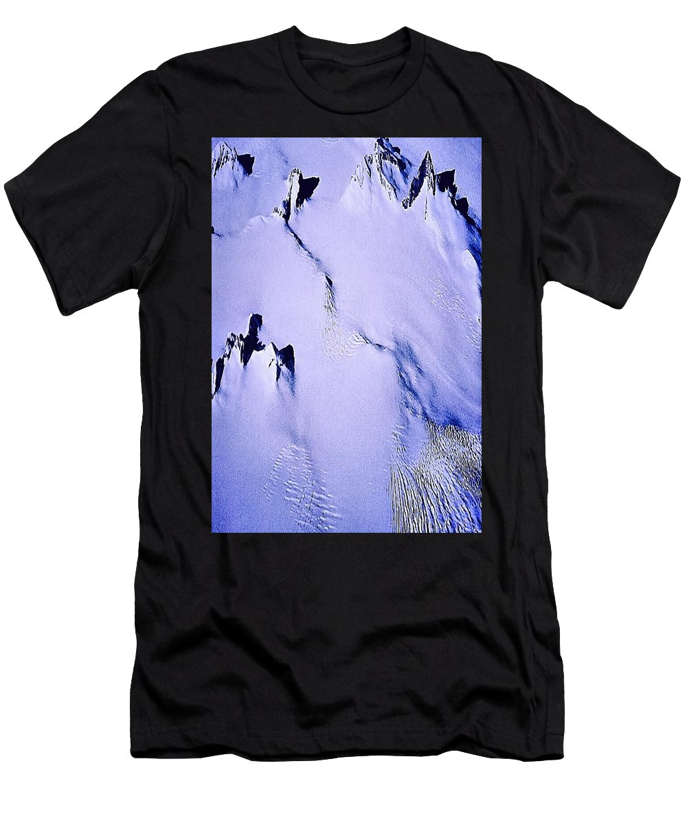 North Pole Men's T-Shirt (Athletic Fit) featuring the photograph Arctic Fastness by Christoph H-A