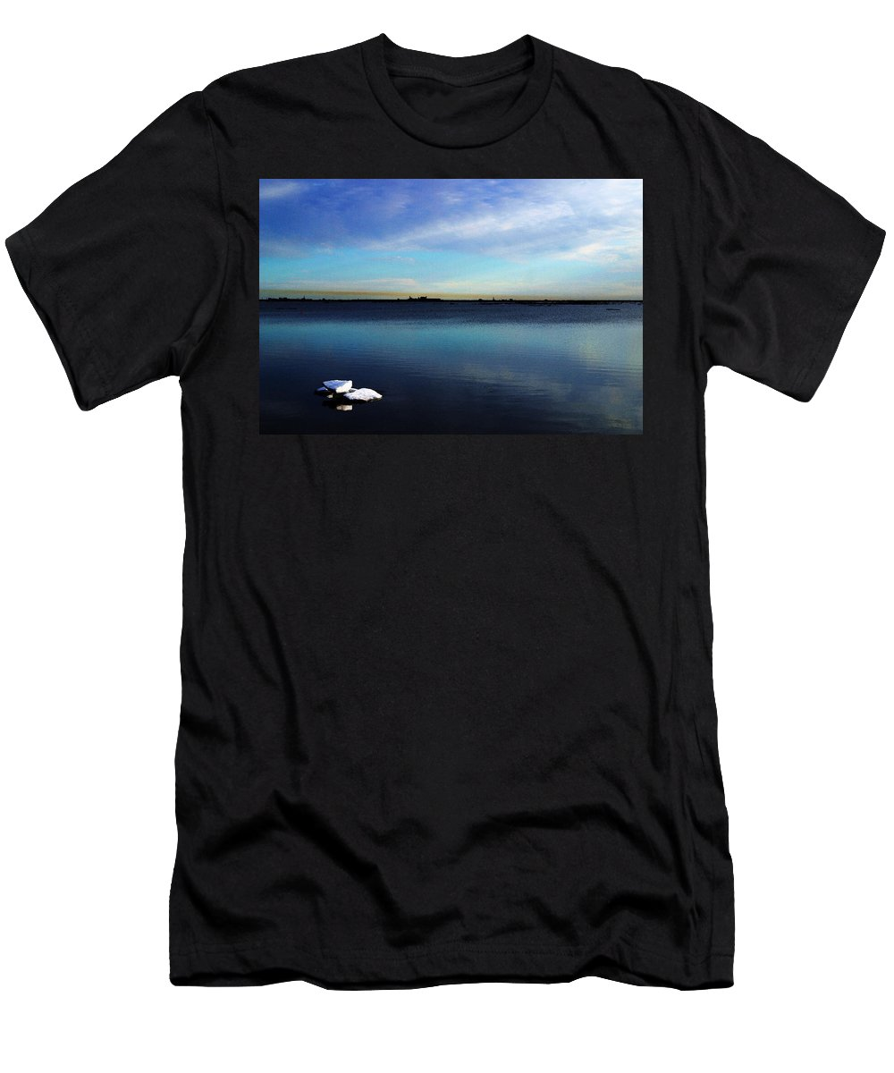 Digital Art Men's T-Shirt (Athletic Fit) featuring the digital art Arctic Ice by Anthony Jones