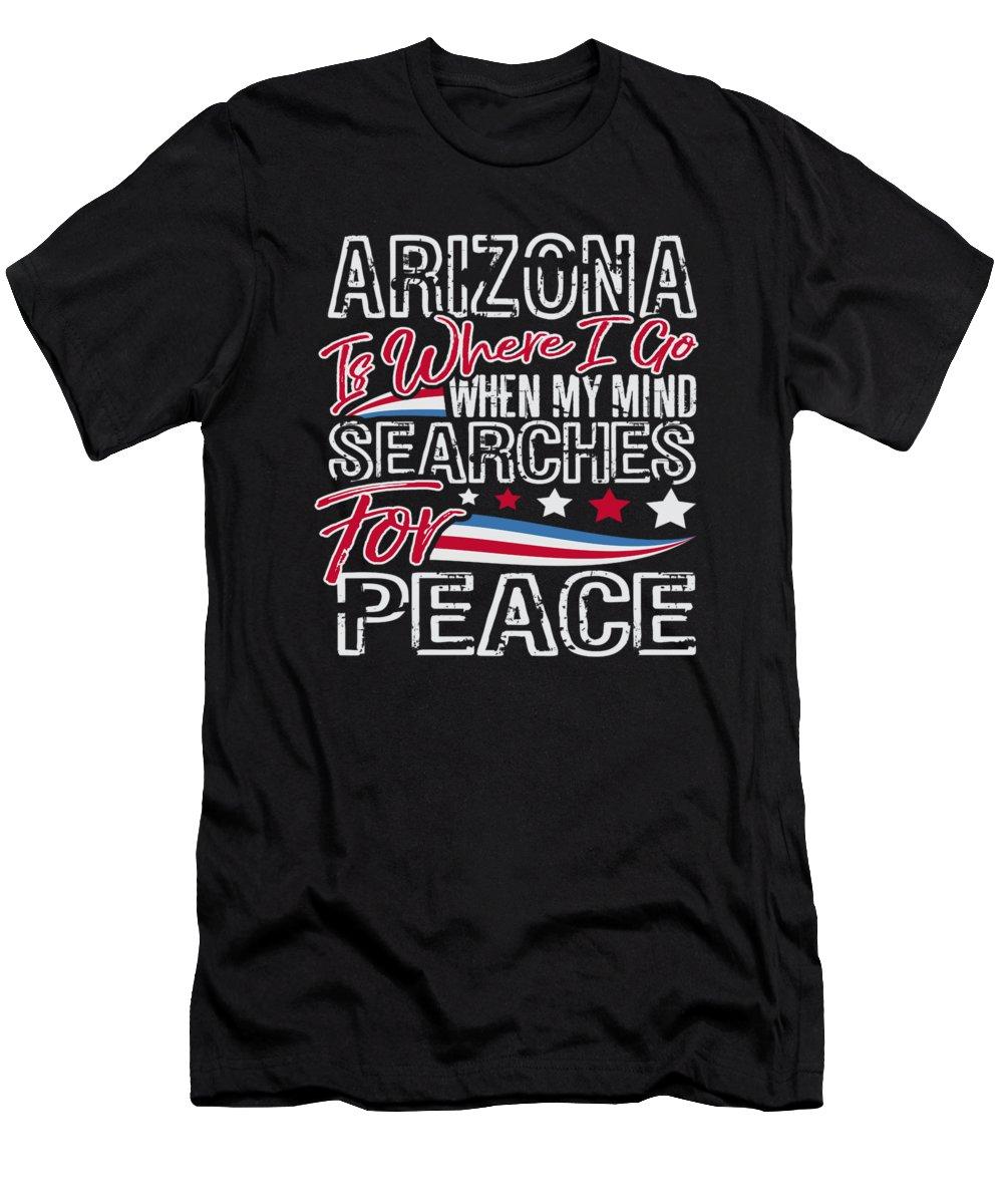 Veterans-day T-Shirt featuring the digital art Arizona American Patriotic Memorial Day by Passion Loft