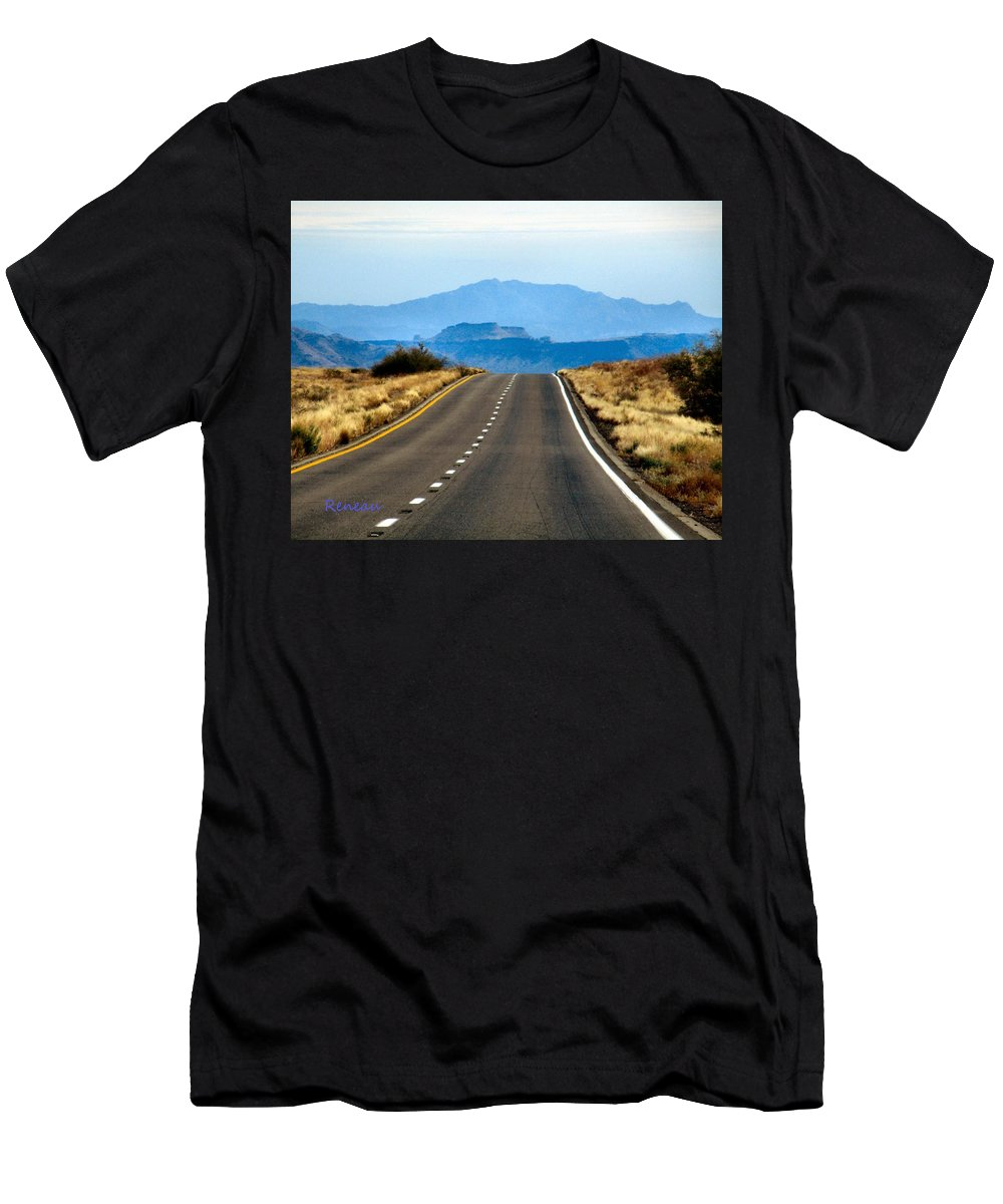 Roads Men's T-Shirt (Athletic Fit) featuring the photograph Arizona Highways by A L Sadie Reneau