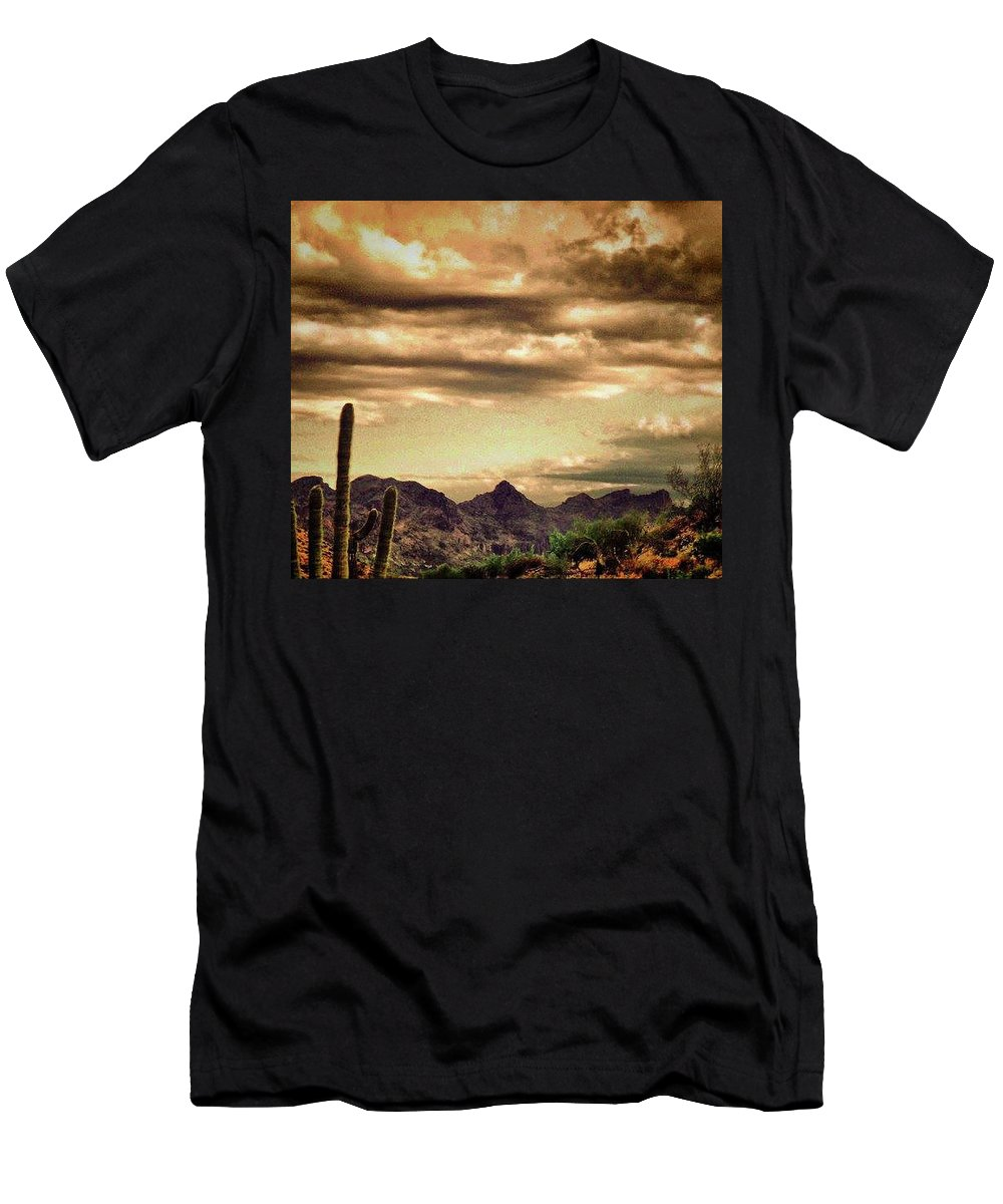 Men's T-Shirt (Athletic Fit) featuring the photograph Arizona Landscape by Keith Peacock