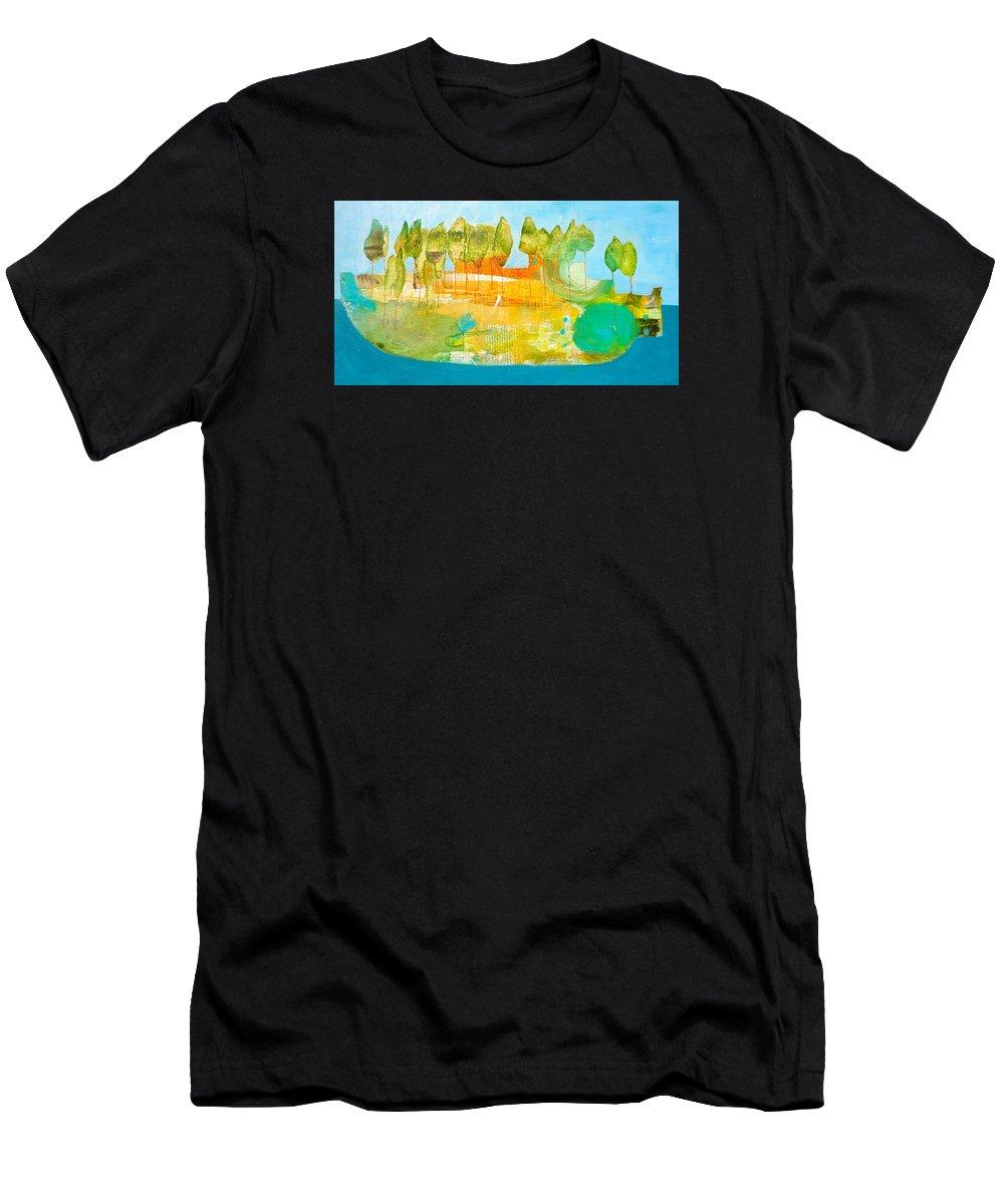 Ark Men's T-Shirt (Athletic Fit) featuring the painting Ark by Jenn Ashton