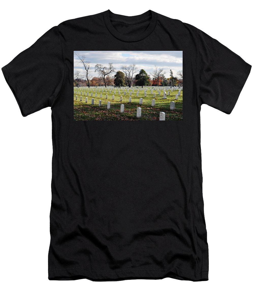 Arlington National Cemetery Men's T-Shirt (Athletic Fit) featuring the photograph Arlington National Cemetery Landscape by Kyle Hanson