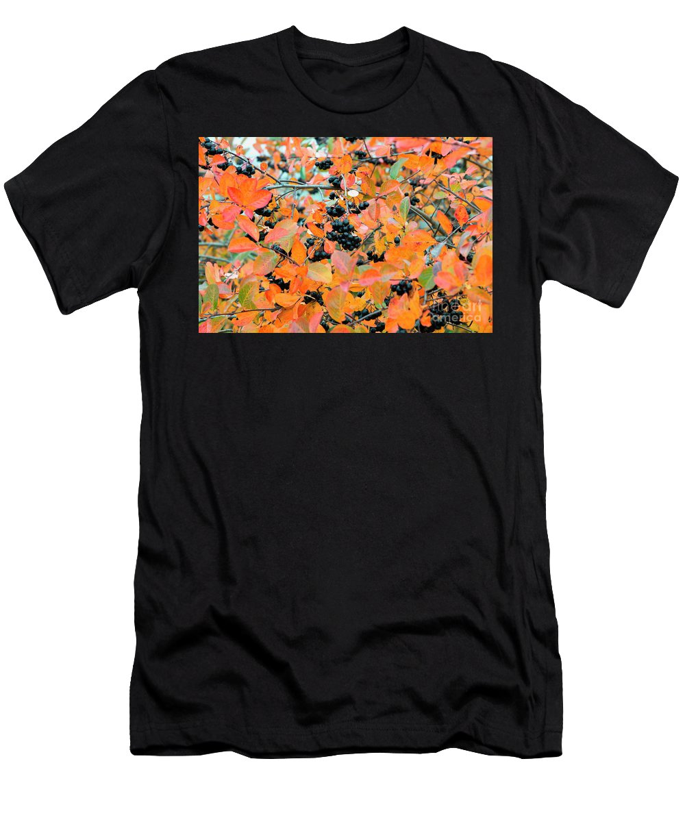 Aronia Mitschurinii Men's T-Shirt (Athletic Fit) featuring the photograph Aronia by Esko Lindell