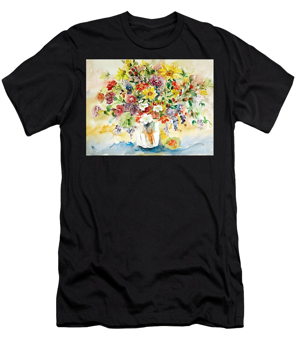 Watercolor Men's T-Shirt (Athletic Fit) featuring the painting Arrangement IIi by Ingrid Dohm