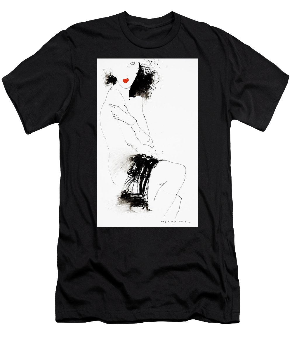 Oman Men's T-Shirt (Athletic Fit) featuring the painting 5 by Viktor Sheleg