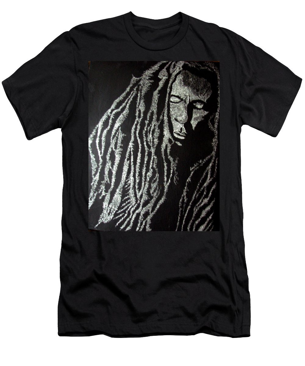 Portrait T-Shirt featuring the painting Art of Freedom by Glory Fraulein Wolfe