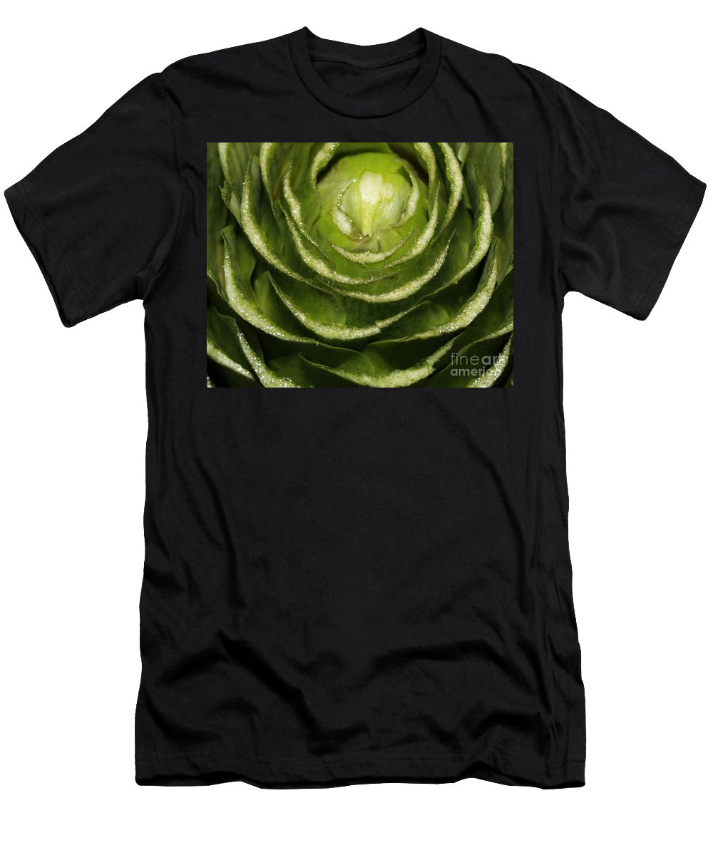 Veggies Men's T-Shirt (Athletic Fit) featuring the photograph Artichoke Close-up by Carol Groenen