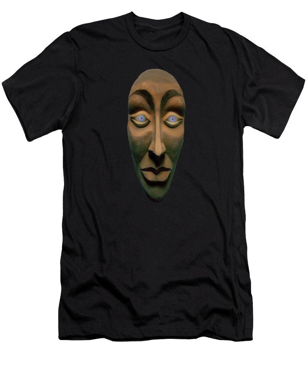 Mask Men's T-Shirt (Athletic Fit) featuring the photograph Artificial Intelligence Entity by David Dehner