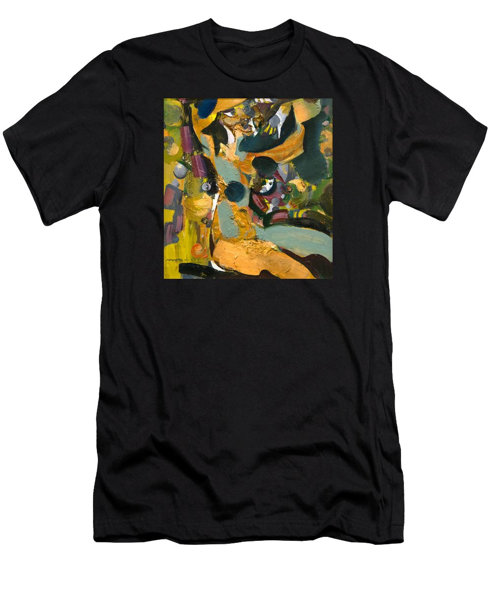 Female Men's T-Shirt (Athletic Fit) featuring the painting Artistic by Nikolay Malafeev