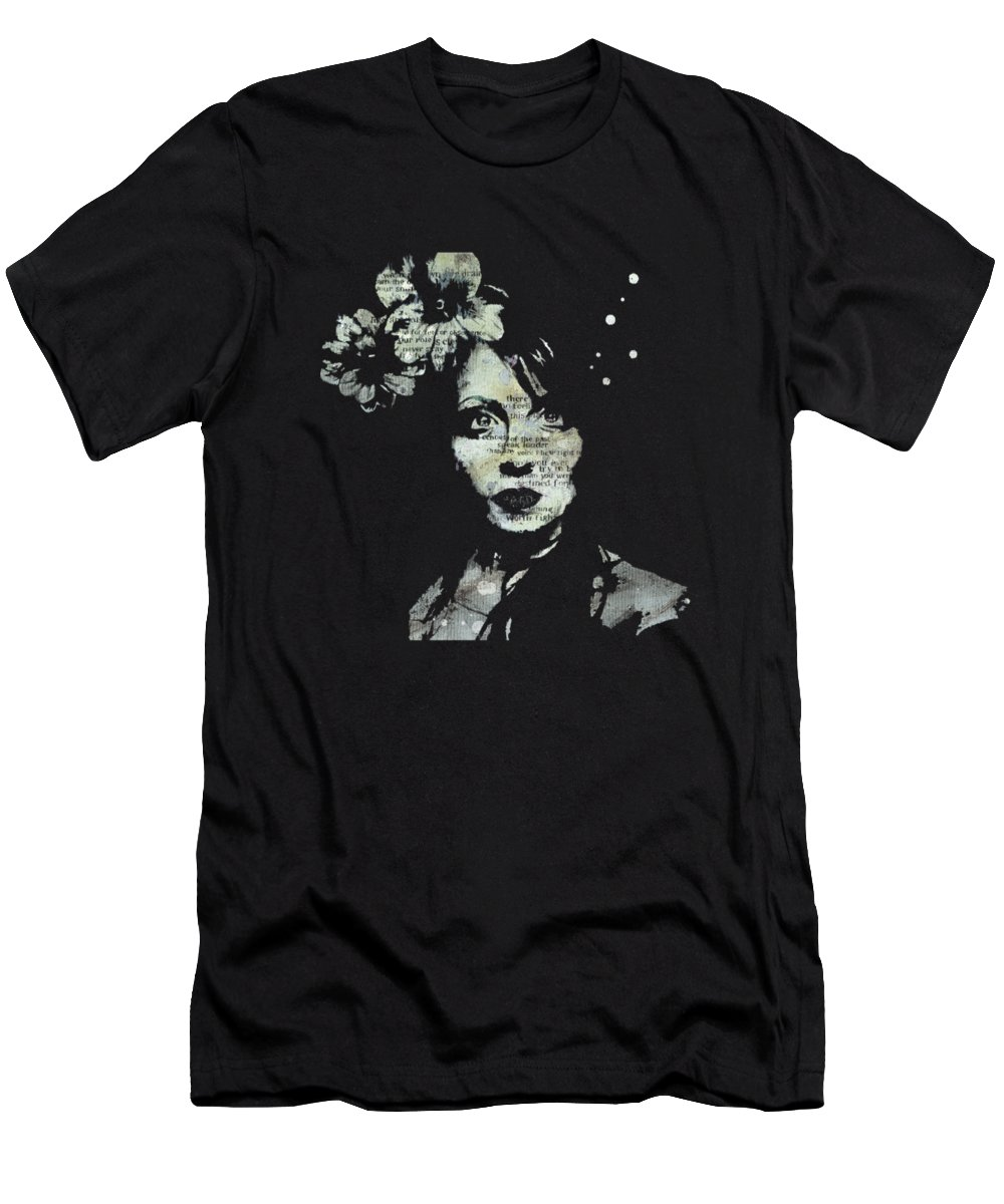 Portrait T-Shirt featuring the painting Farewell, Mona Lisa by Marco Paludet